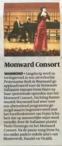 Monward Consort 10 maart 2018